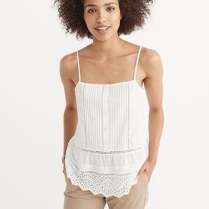 Abercrombie and Fitch Cutwork Cami